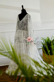 Stevie-Beautiful boho inspired gown - (TEEN-ADULT) Maternity friendly.