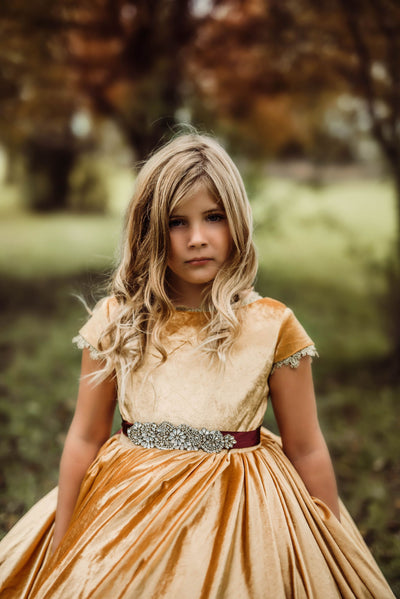 Gwendolyn includes belt, tulle collar+matching cape (6 Year - Petite 12 Year)