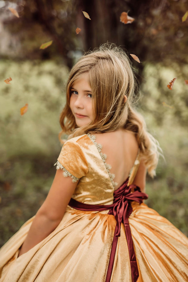 Gwendolyn includes belt, tulle collar (6 Year - Petite 12 Year)