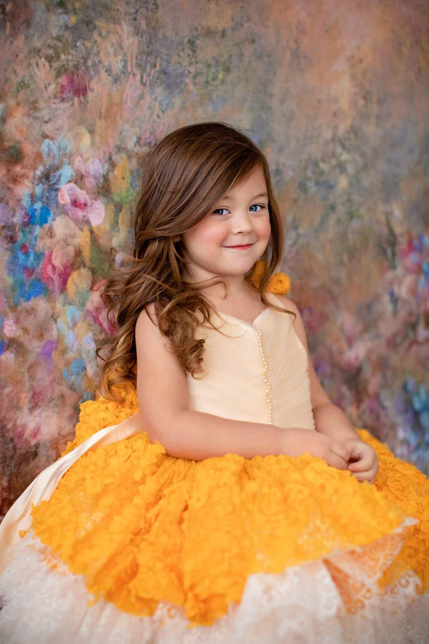 """Daffodil"" -  Petal Length Dress - ( 3 Year - Petite 5 Year)"