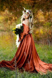 """Delores"" - Beautiful velvet boho inspired gown - (TEEN-ADULT)"