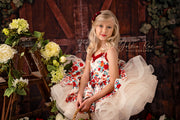 """Frilly Floral"" -   Petal Length Dress  - ( 3 Year - Petite 5 Year)"