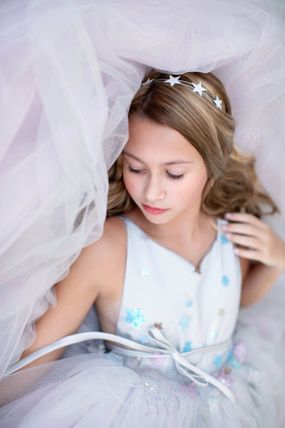All that Shimmers- Modified Dillon Gown -Gorgeous special occasion or photo shoot dress (8 Year-Petite 13 Year)