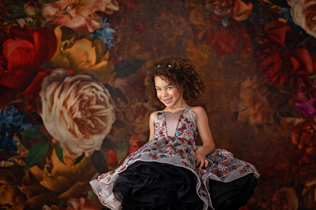 """Butterfly Garden"" -  Petal Dress  ( 5 Year - Petite 6 Year)"