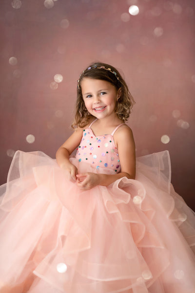 Confetti -Pink Gown (4 Year - Petite 6 Year)