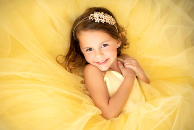 Laurel Tulle gown- Yellow Sunburst (4 Year - Petite 7 Year)