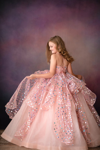 Confetti -Pink Gown (6 Year - Petite 12 Year)