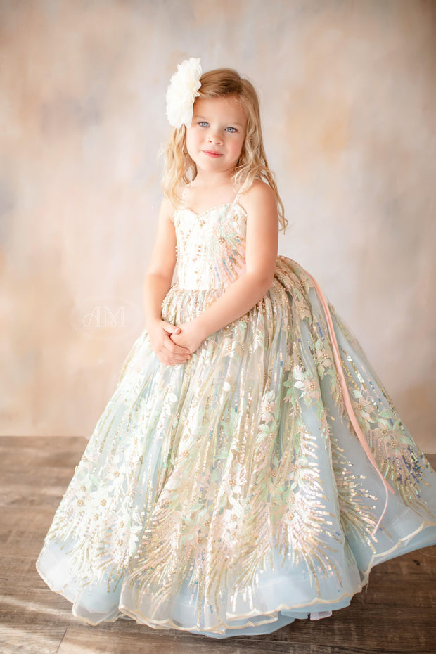 COTTON CANDY DREAMS GOWN- GORGEOUS SPECIAL OCCASION OR PHOTO SHOOT DRESS