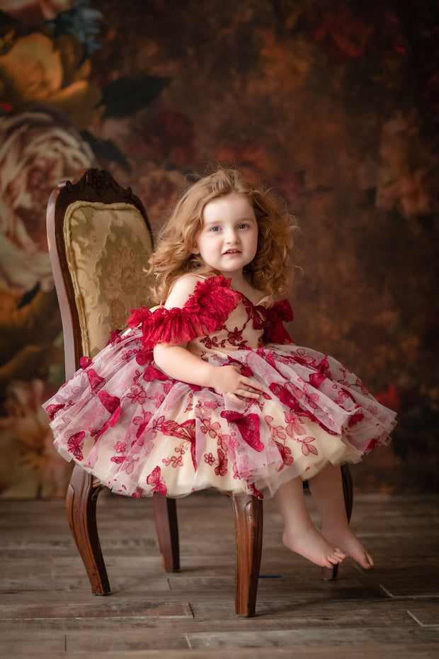 "Petal ""Butterfly Song""- Short Length Dress (2 Year - Petite 4 Year) -"
