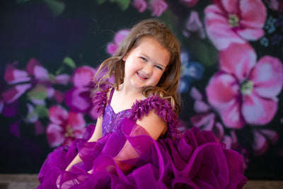 "PETAL ""RHAPSODY""-Sugarplum- SHORT LENGTH DRESS (4 YEAR-PETITE 8 YEAR)"