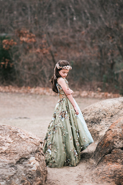 """Luster"" Special Edition Gown- Editorial Dress, Couture Gown, Flower Girl Dress,  Special Occasion Dress"