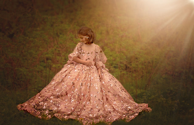 Starlight- Floor long Gown (7 Year-Petite 12 Year)