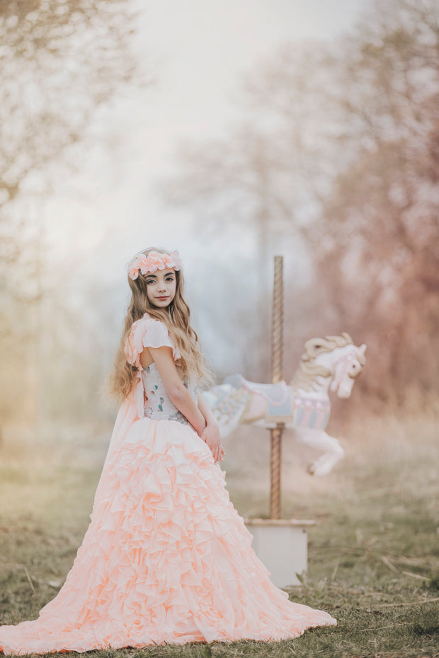 """Carousel"" Flower Girl Dress,  Special Occasion Dress"