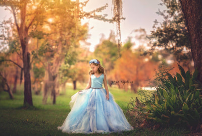 """Atiyana"" Special Edition Gown- Editorial Dress, Couture Gown, Flower Girl Dress,  Special Occasion Dress"