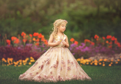 """Lacey"" Flower Girl Dress,  Special Occasion Dress"