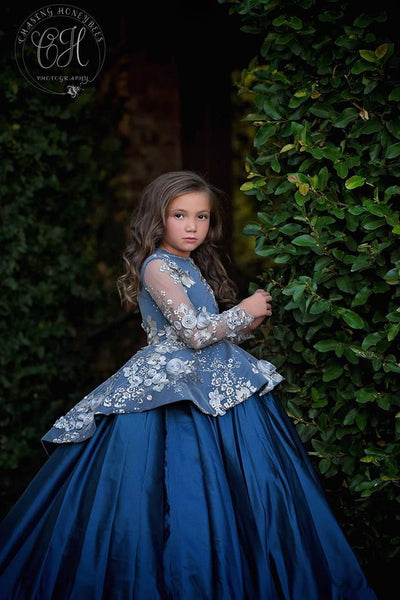 """Ariana"" Special Edition Gown- Editorial Dress, Couture Gown, Flower Girl Dress,  Special Occasion Dress"