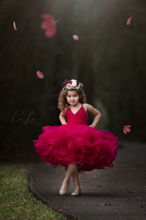 Petal in Rose- Short Length Dress (4 Year-Petite 6 Year)