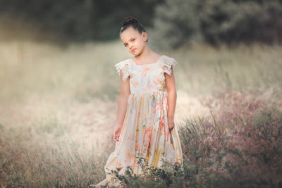 """Summer"" Flower Girl Dress,  Special Occasion Dress"