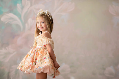 Leah ballerina length gown (4 year- petite 6 year)