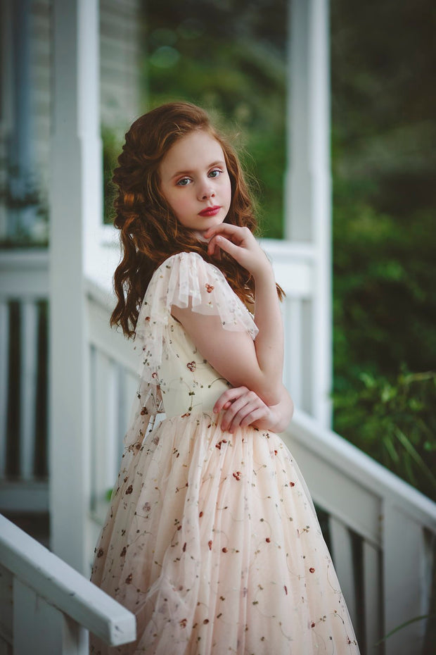 """June"" Flower Girl Dress,  Special Occasion Dress"