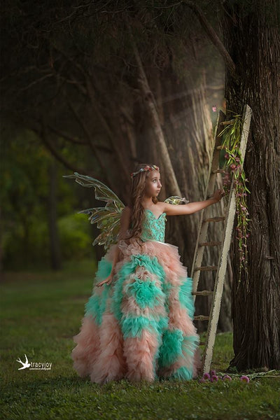 """Dream"" Special Edition Gown- Editorial Dress, Couture Gown, Flower Girl Dress,  Special Occasion Dress"