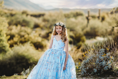 APRIL – BLUE FLORAL GOWN