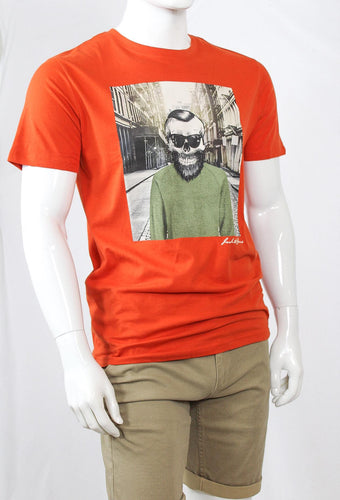 T-shirt Jack & Jones Skull - Rouge