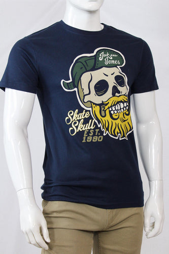 T-shirt Jack & Jones Skull - Bleu