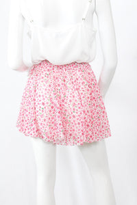 Jupe-short fluide liberty - Rose