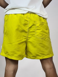J&J Short de bain uni, coloris jaune