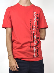 Tee shirt jack & jones, coloris rouge