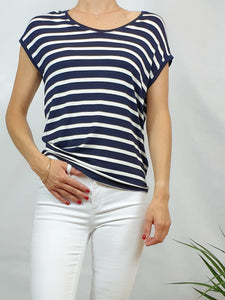 Tee-shirt  ONLY rayé navy