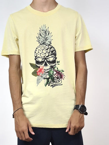 J&J Tee-shirt Skull Pineapple, coloris jaune.