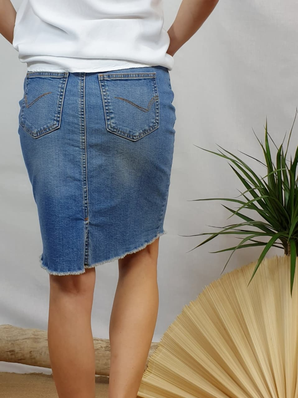 Jupe crayon en jeans ONLY