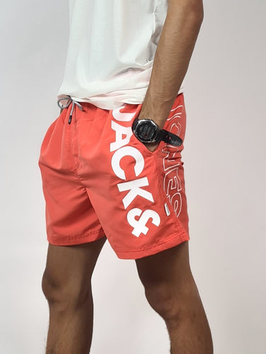 J&J Short de bain, coloris corail