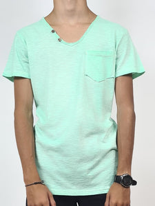 Tee shirt uni , coloris aqua