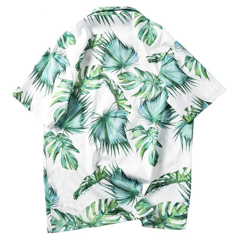 Beach Shirt Green Leaf - popxstore