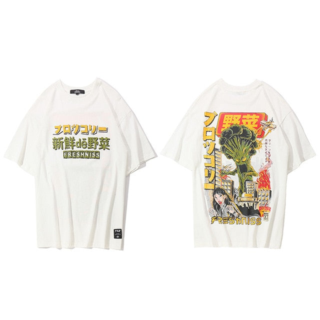 T-Shirt  Harajuku Cartoon Monster - popxstore