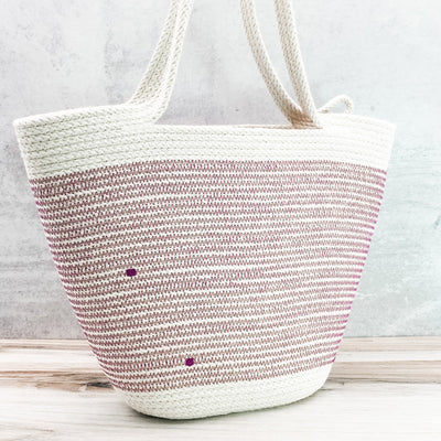 Long-handled tote (orchid)