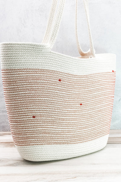 Long-handled, oversized tote (red)