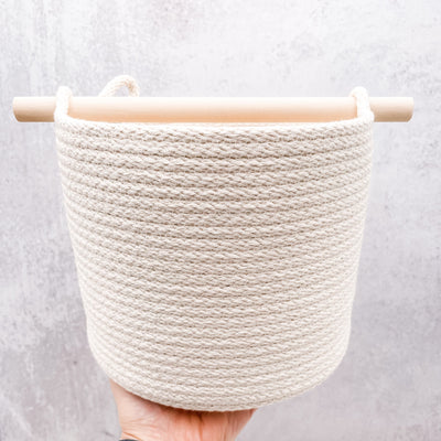 Wood handle basket - tall version