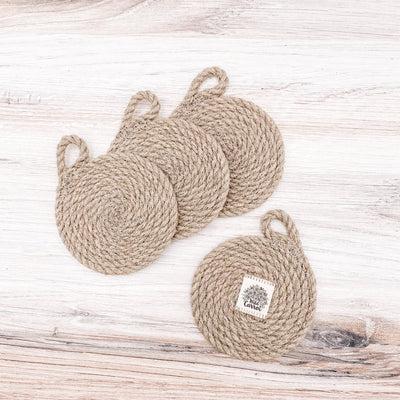 Hemp coaster set