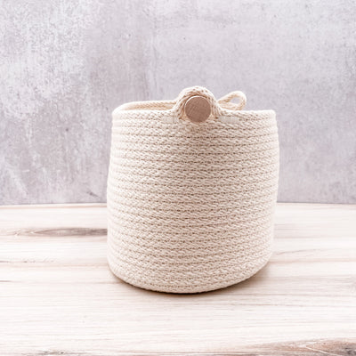 Oval wood handle basket