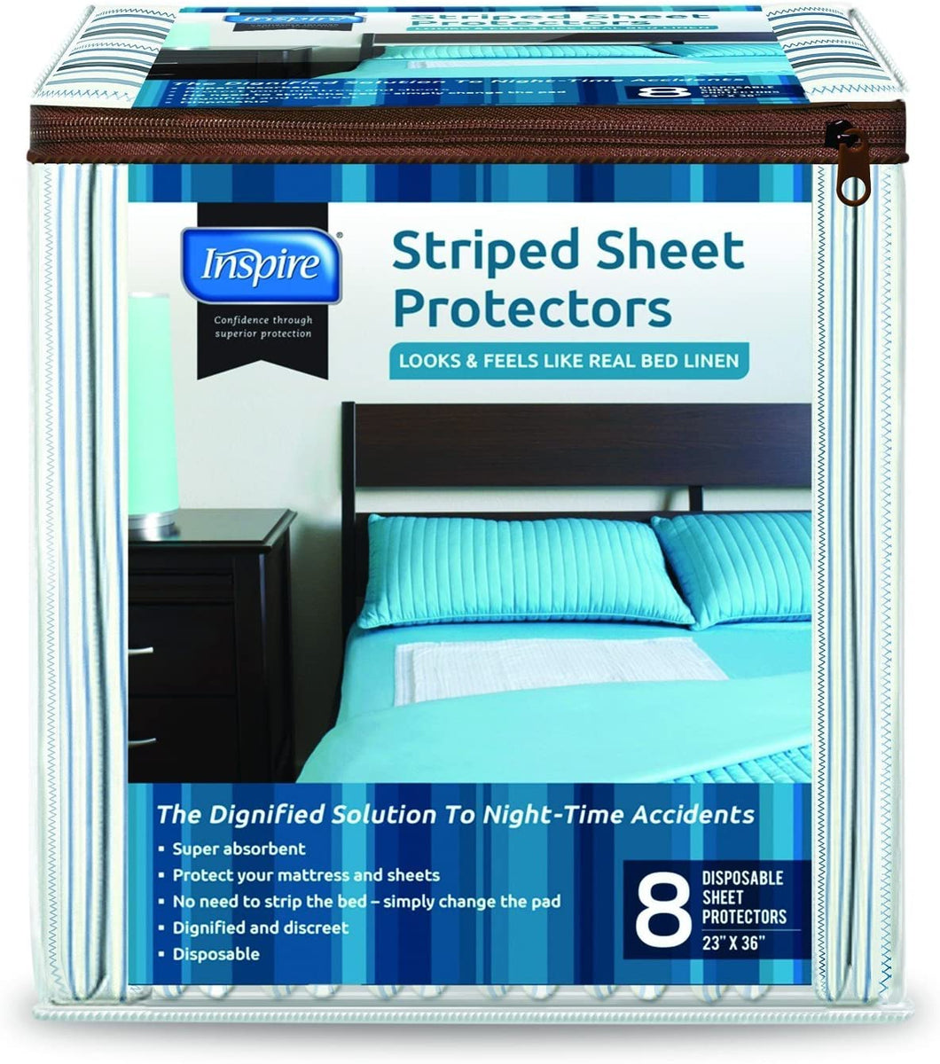 Inspire Disposable Bed Protector - Pack of 8