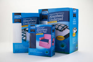 Absorbent Reusable Underpads - Value Pack - 3 Bed Pads & 3 Chair Pads (Inspire)