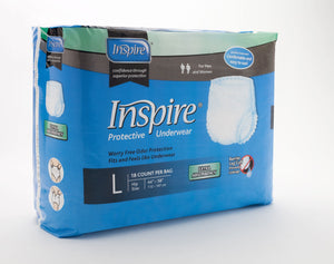 "Inspire Protective Incontinence Underwear ""Pull Ons"" - 3 Size Options"