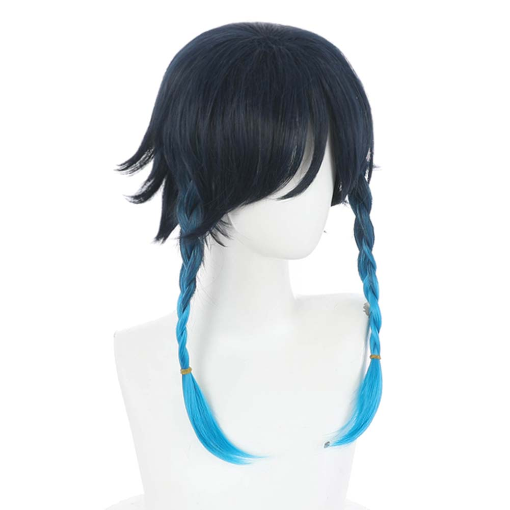 Cosplay Wig for genshin impact Venti  heat resistant fiber party wigs