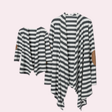 Stripe Patch Cardigan