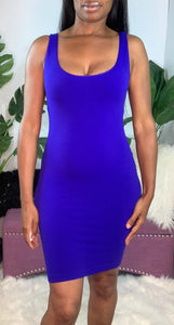 """Osfa"" purple tank dress"