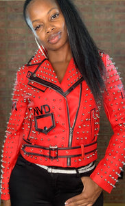 Pretty Face Jacket Red with black details